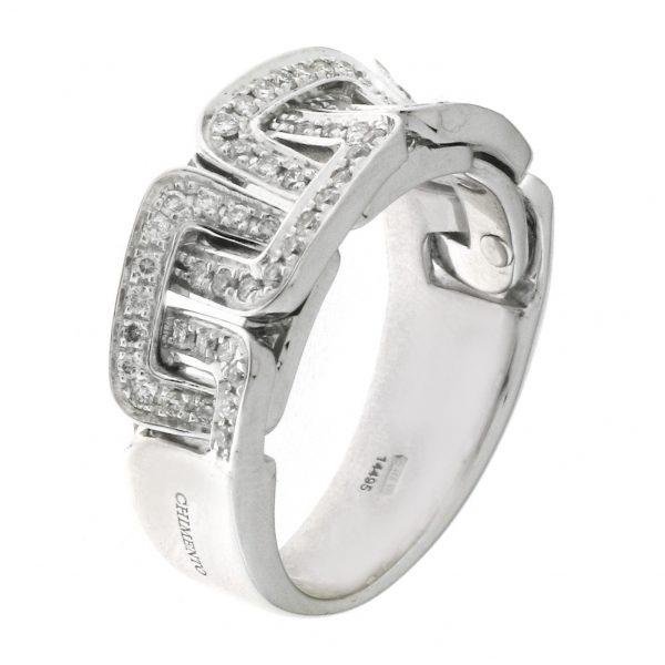Chimento prsten od belog zlata