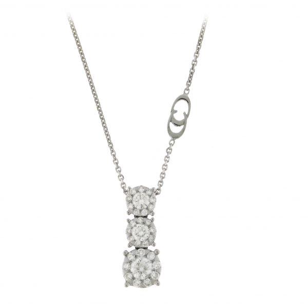 Ogrlica u belom zlatu sa dijamantima
