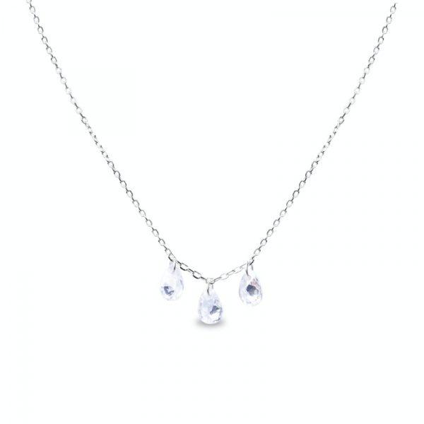 Ogrlica od srebra sa kristalima