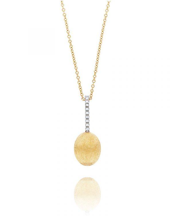 Prefinjena ogrlica od žutog zlata