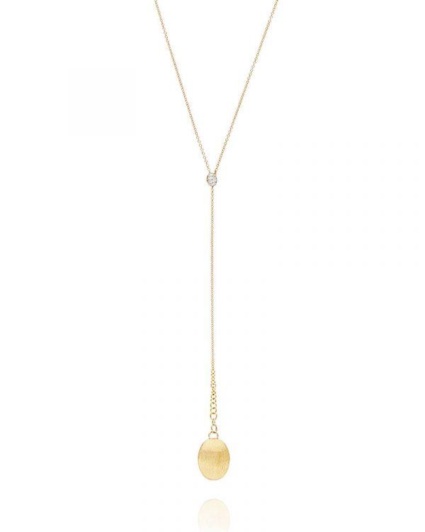 Sofisticirana ogrlica od žutog zlata