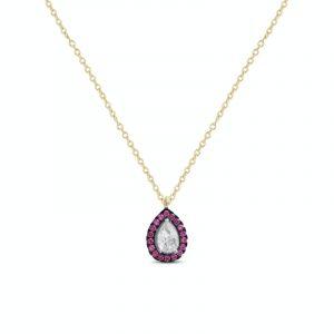Srebrna ogrlica sa kristalima u boji