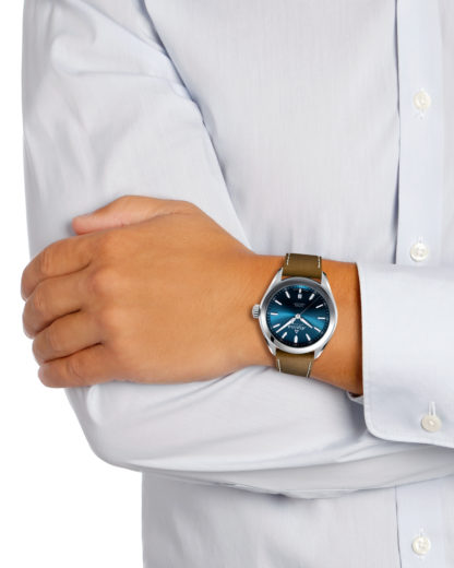 Muški kvarcni sat sa kožnom narukvicom