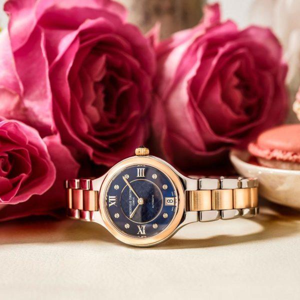 Zenski sat sa metalnom narukvicom i roze pozlatom