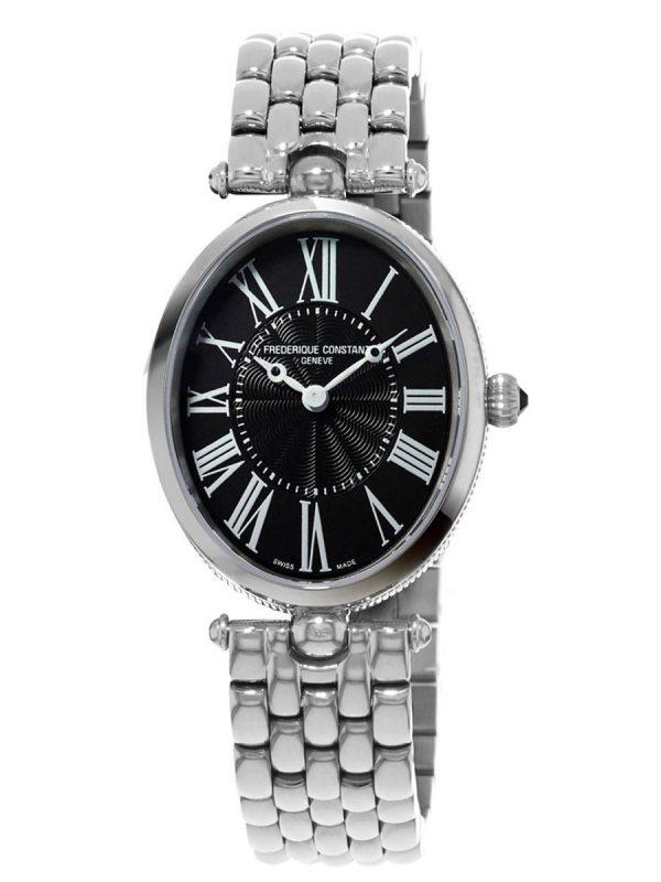 Ovalni sat sa metalnom narukvicom