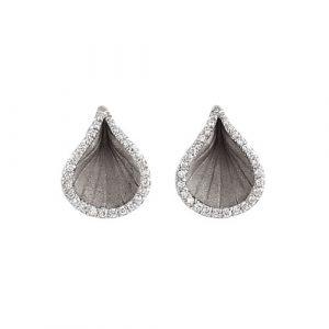 Stilizovane minđuše sa dijamantima