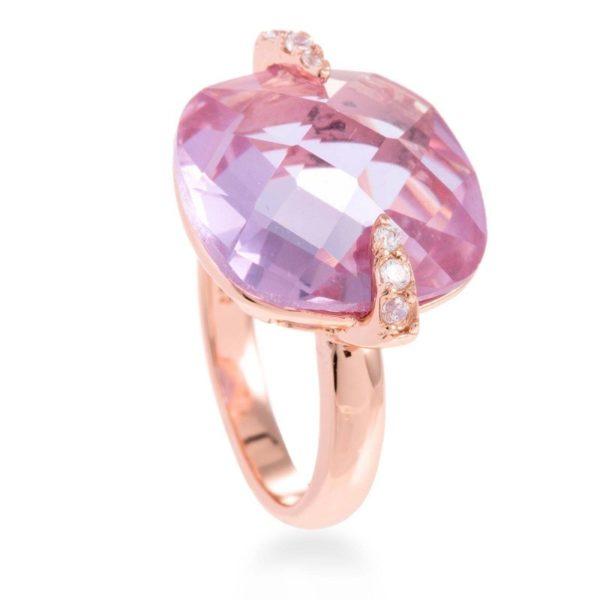 Prsten sa roze pozlatom