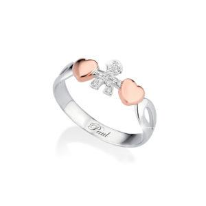 Prsten belo zlato sa brilijantima