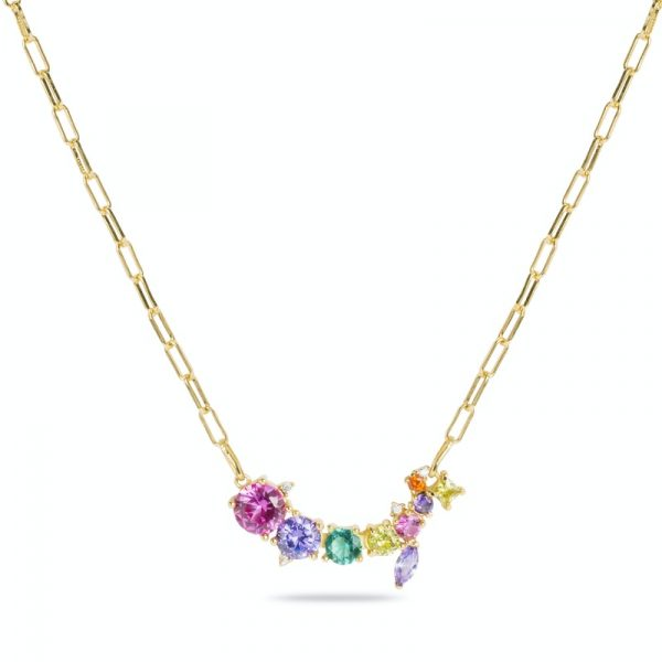 ogrlica od srebra sa žutom pozlatom