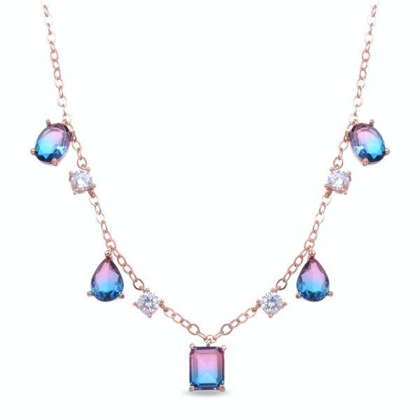 ogrlica sa kristalima u boji