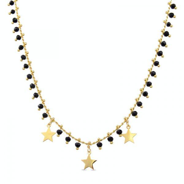 ogrlica sa zvezdicama i kristalima