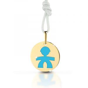 Privezak od zlata sa motivom dečaka