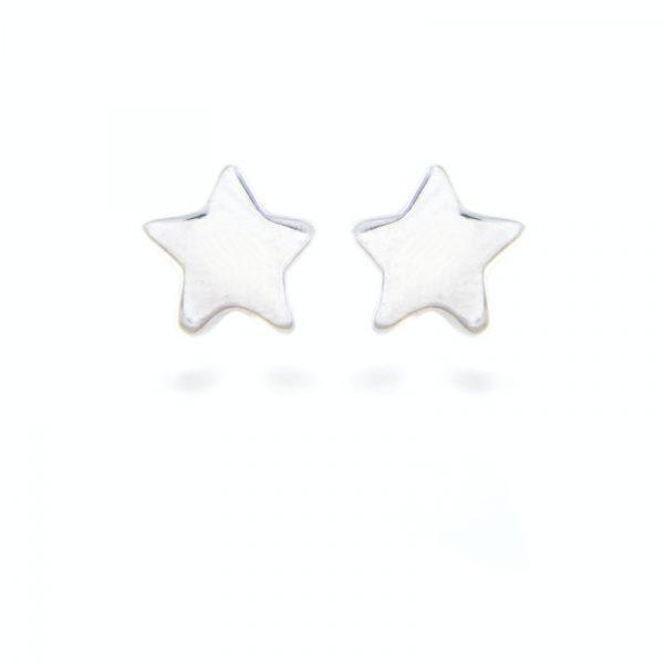 srebrne minđuše zvezde