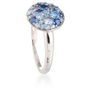 srebrni prsten sa kristalima