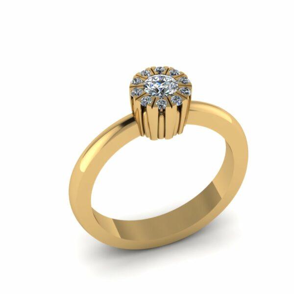 Prsten cvetić sa brilijantima
