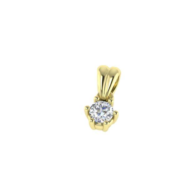 Klasičan privezak sa dijamantom