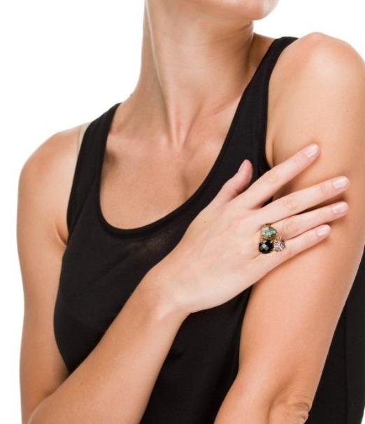 Srebrni prsten sa žutom pozlatom