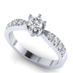 Briljantski prsten od zlata