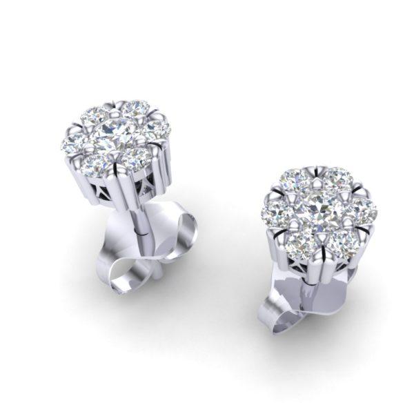 Dijamantske minđuše cvetići