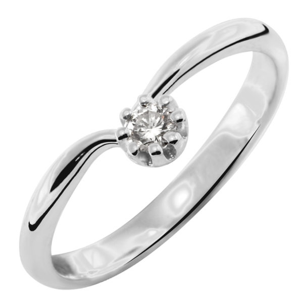 Moderan prsten sa brilijantom
