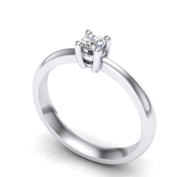 klasičan prsten sa brilijantom