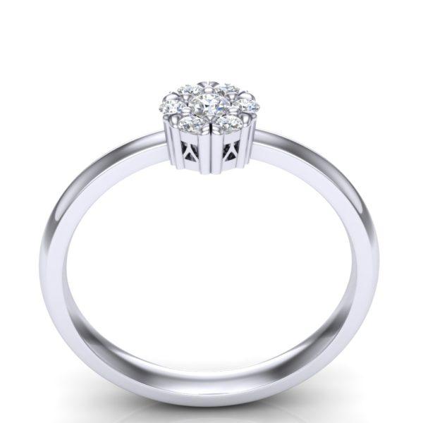 Prsten cvetić od belog zlata