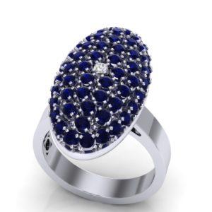 Efektan prsten sa dragim kamenjem