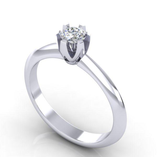 Prsten za veridbu sa jednim brilijantom
