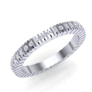 Prsten sa brilijantima od belog zlata