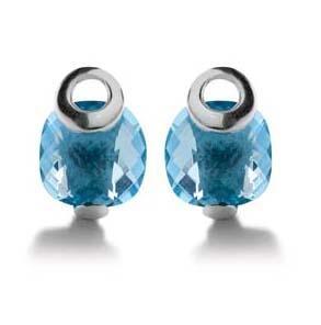 Minđuše sa plavim kristalima