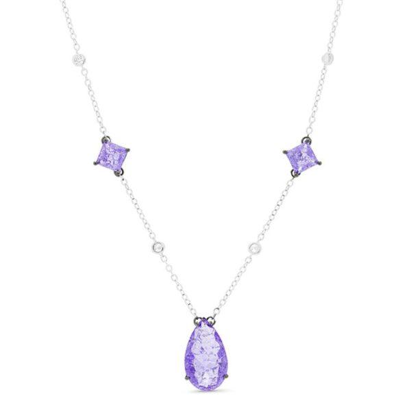 ogrlica od srebra sa ljubičastim kamenjem