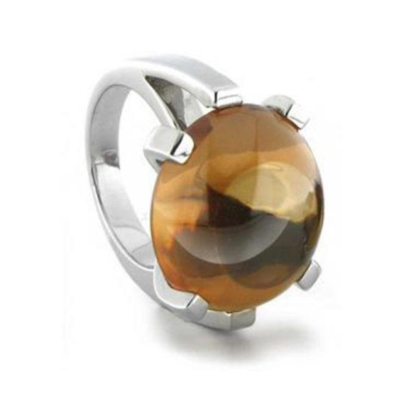prsten od srebra sa kamenom u boji