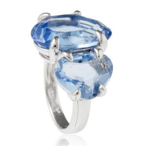 prsten od srebra sa plavim kamenjem
