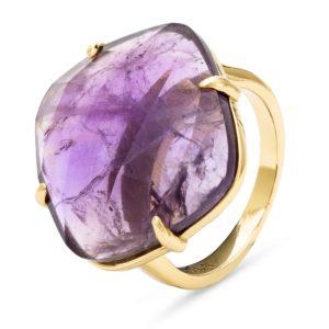 Prsten od srebra sa pozlatom