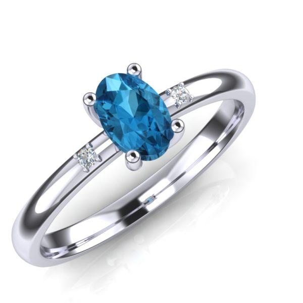 Nežan prsten sa dragim kamenjem