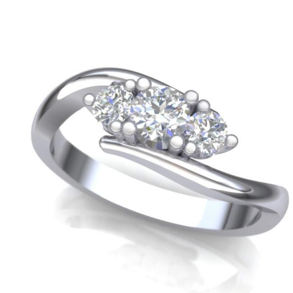 Prsten sa tri dijamanta
