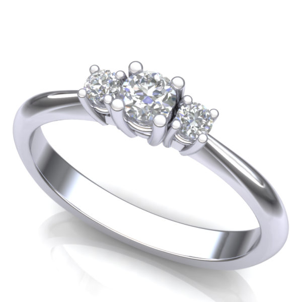 Verenički prsten sa tri dijamanta
