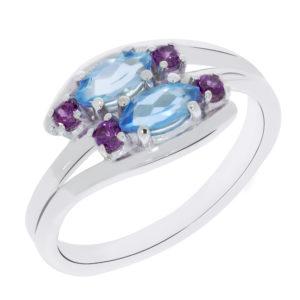 Stilizovan prsten sa topazom