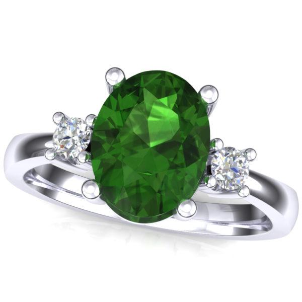 Prsten sa topazom i brilijantima