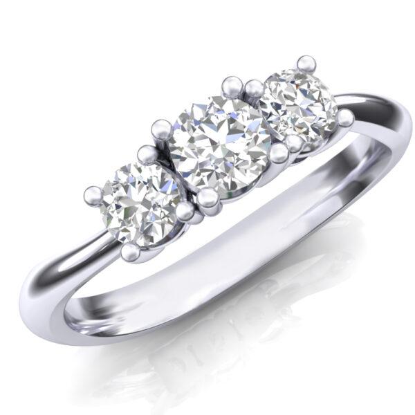 Prsten sa tri brilijanta