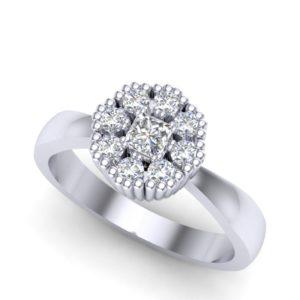Moderan prsten sa dijamantima