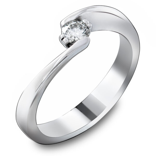 Asimetričan verenički prsten