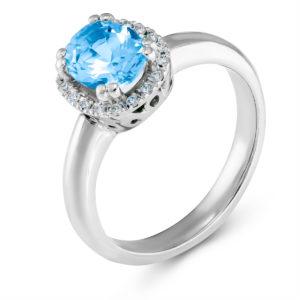 Verenički prsten sa plavim topazom