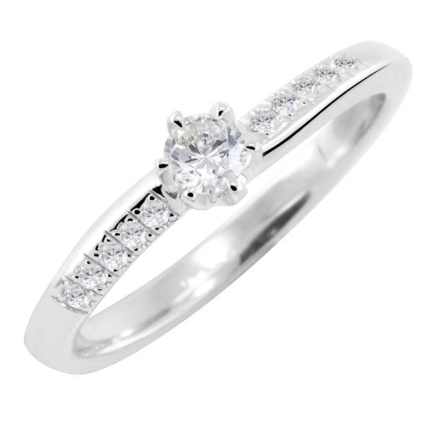 Stilizovan prsten sa dijamantima