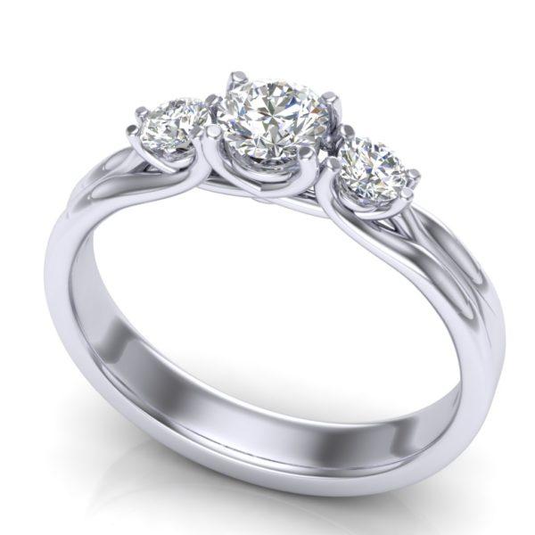 Elegantan prsten sa brilijantima
