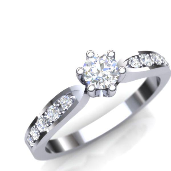 Verenički prsten sa blistavim kamenjem