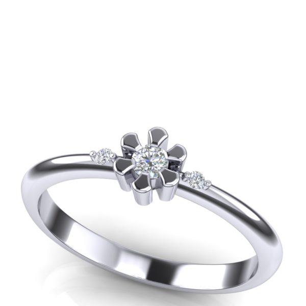 Nežan prsten sa brilijantima