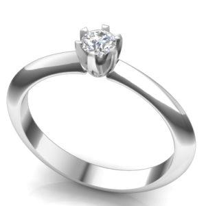 Verenički prsten sa jednim brilijantom