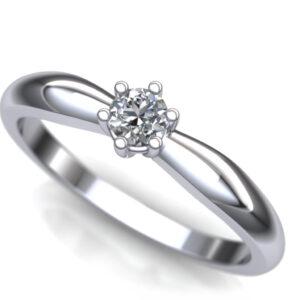 Diskretan prsten sa brilijantom