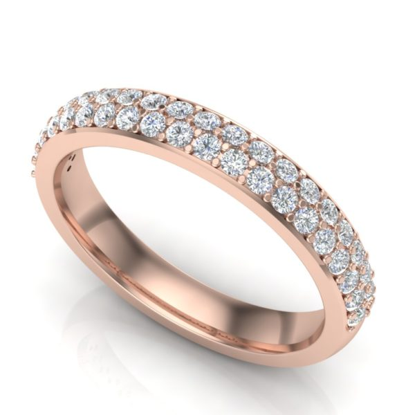 Prsten sa dva reda brilijanata